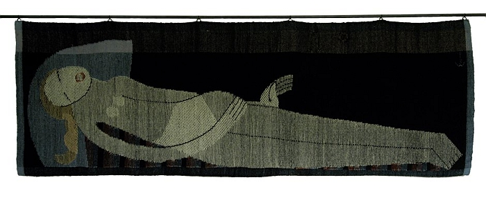 Liegende Wolle, 1924, by Johanna Schütz-Wolff, part of Textilkunst an der Burg Giebichenstein in den 1920er Jahren (Image Nachlass Schütz-Wolff Courtesy Stiftung Bauhaus Dessau)