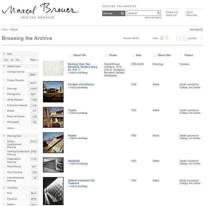 marcel breuer digital archive