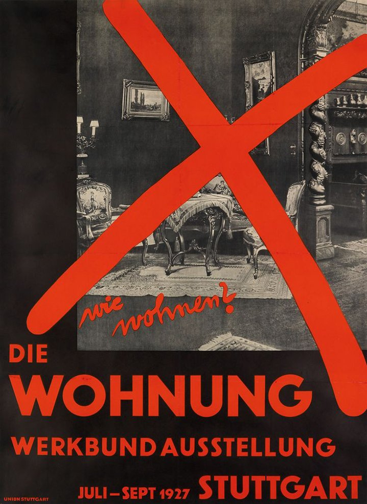 """Perhaps the most famous of all """"How We Should Live?"""" exhibitions - The 1927 Die Wohnung exhibition at the Weissenhofsiedlung Stuttgart"""