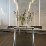 """Lianes (Vines) and an Officina table trestle by Ronan and Erwan Bouroullec for Magis. The trestle building the """"base"""" of the exhibition design"""