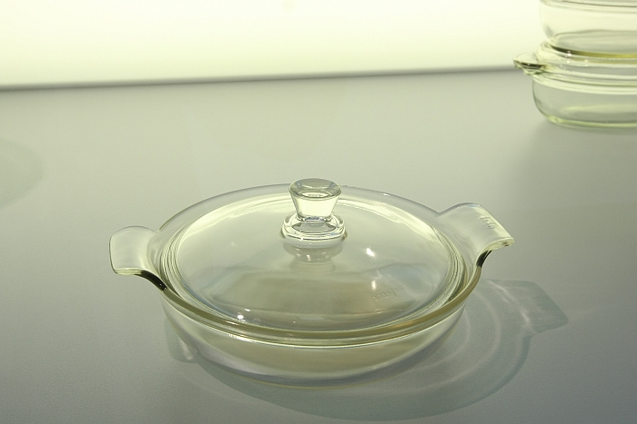 A 1935 Durax baking dish by Wilhelm Wagenfeld. Non-stackable