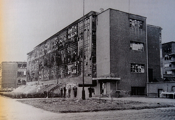 Bauhaus Dessau, following the 1945 allied bombing of Dessau