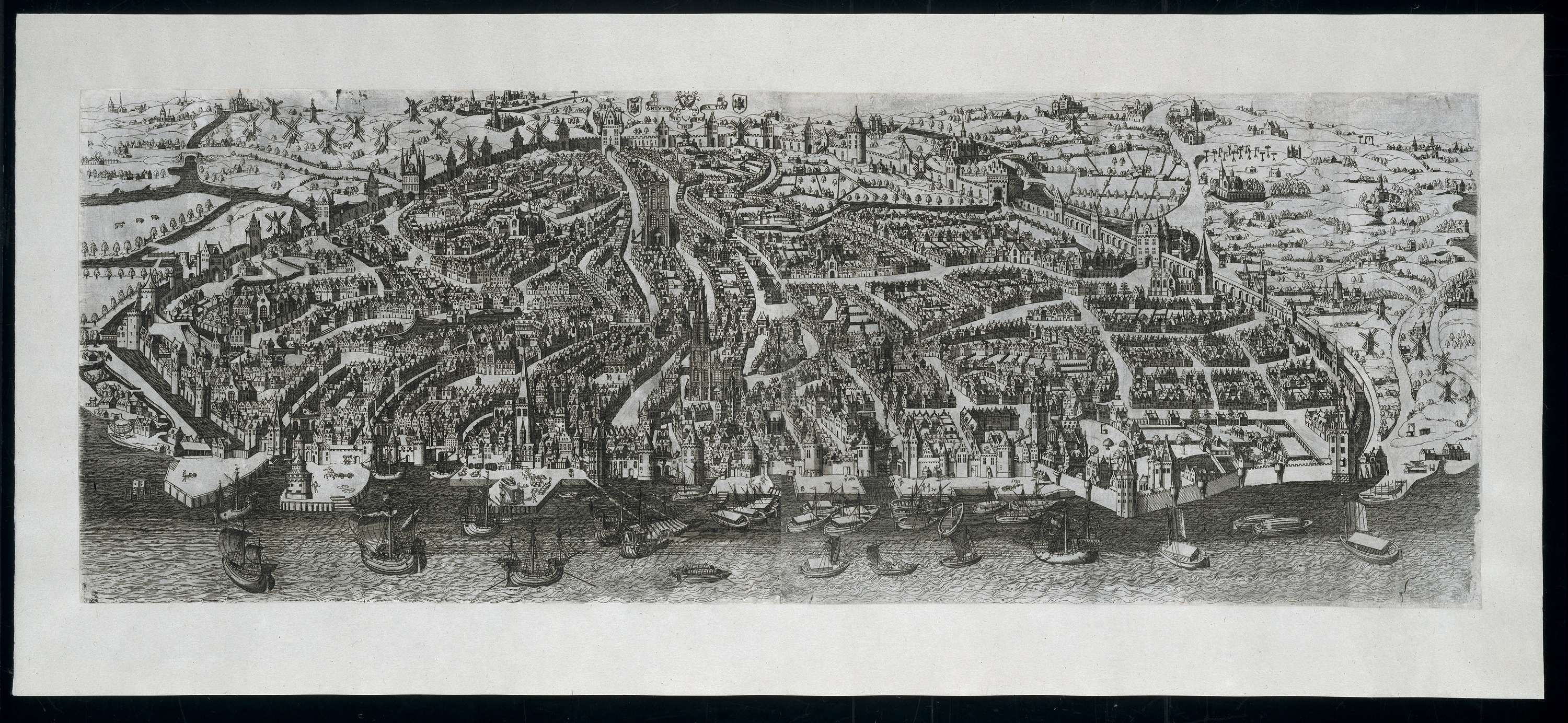 An impression of 16th century Antwerp by Gerard Horenbout (source commons.wikimedia.org)
