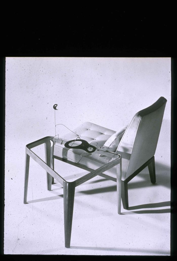 Edward J Wormley. Slipper Chair with Side Table . 1948 - 1950. Edward J Wormley papers; Professional (KA0048.02). New School Archives and Special Collections Digital Archive