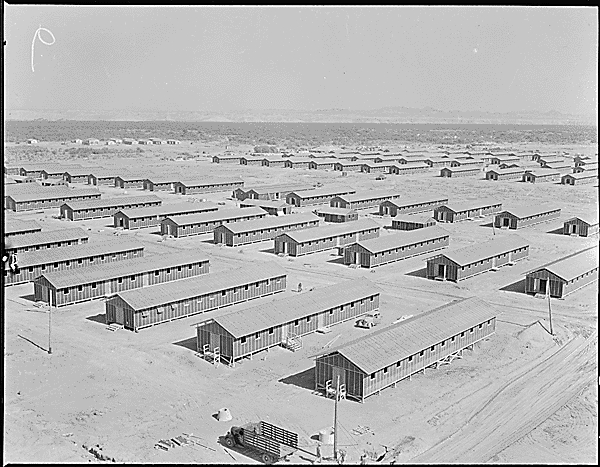 Poston War Relocation Center, Arizona (Photo Fred Clark, via US National Archives, Identifier 536152 https://catalog.archives.gov/id/536152)