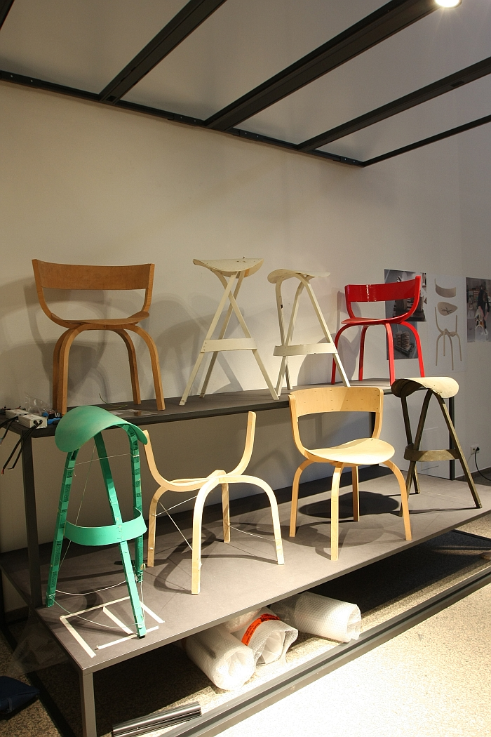 Prototypes of the 404 collection by Stefan Diez for Thonet, as seen at FULL HOUSE: Design by Stefan Diez, Museum für Angewandte Kunst Cologne