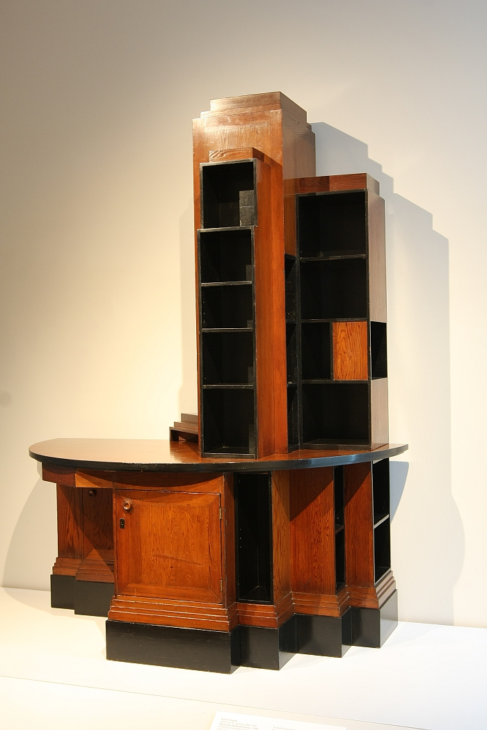 Skyscraper Bookcase Desk by Paul T Frankl (c. 1928) Here at the Grand Rapids Art Museum, from April in The Jazz Age: American Style in the 1920s at the Cooper Hewitt, Smithsonian Design Museum New York