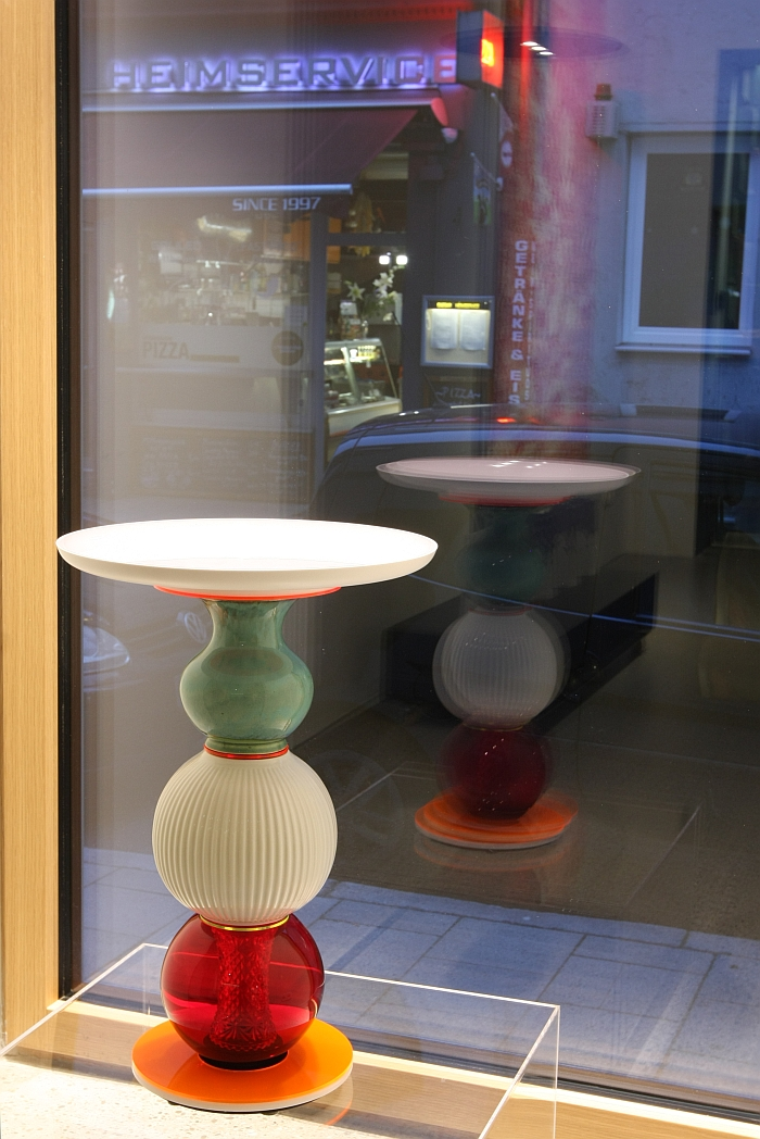 One of the Small Tables by Andreas Berlin, as seen at The Room of Desires, Raumwerk Munich