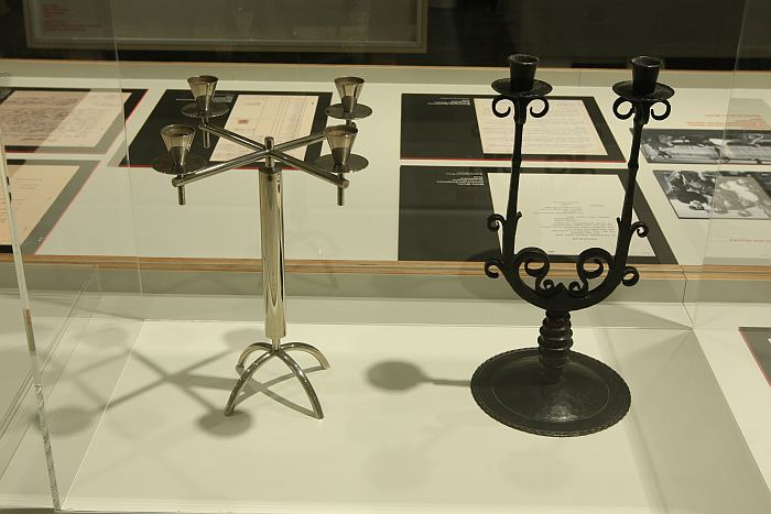 Candelabras by Alfred Schäfter, as seen at Craft becomes Modern. The Bauhaus in the Making, Bauhaus Dessau