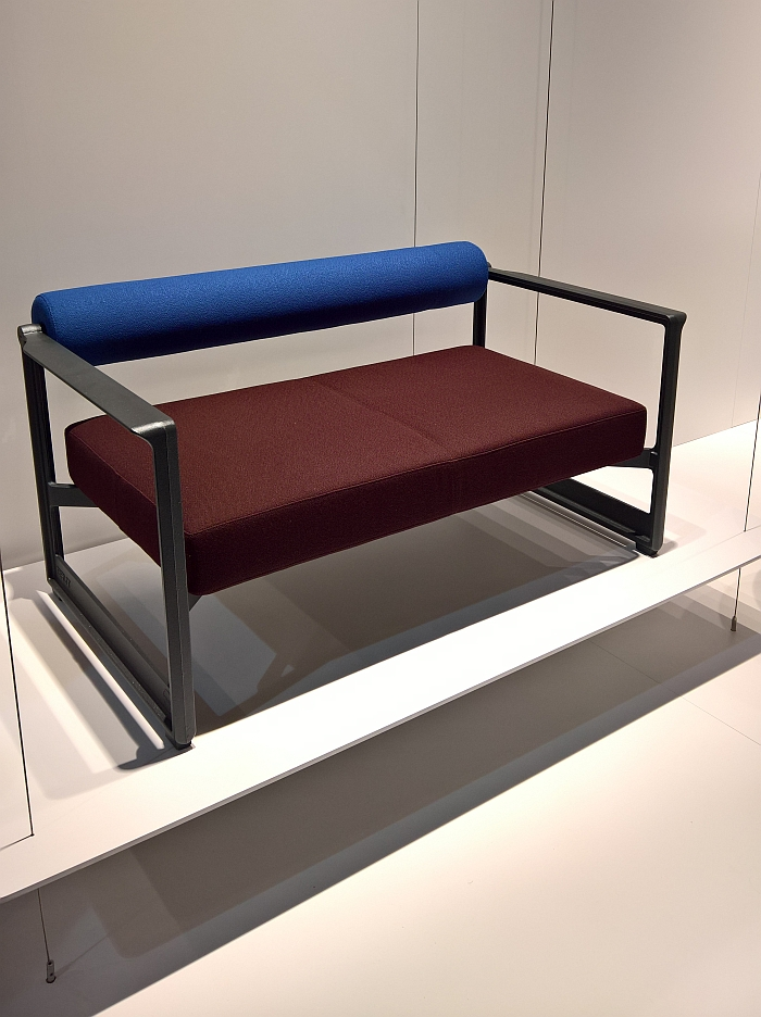 Brut Sofa by Konstantin Grcic for Magis, as seen at Milan Furniture Fair 2017