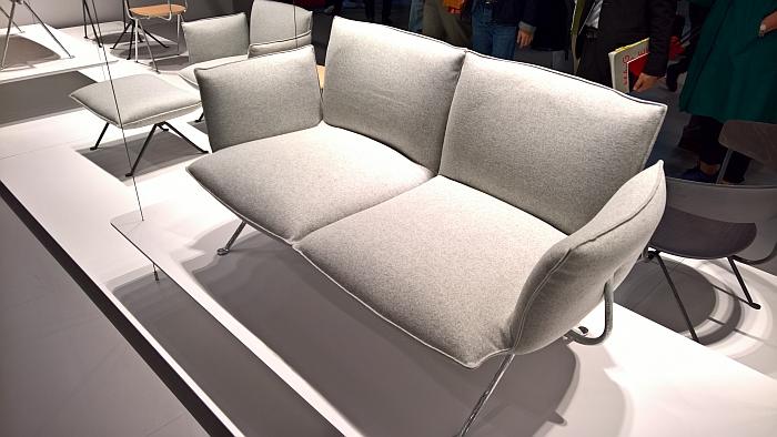 Officina 2 seater sofa by Ronan & Erwan Bouroullec for Magis, as seen at Milan Furniture Fair 2017