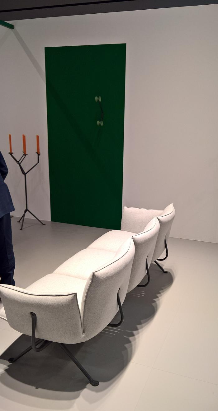 Officina 3 seater sofa by Ronan & Erwan Bouroullec for Magis, as seen at Milan Furniture Fair 2017