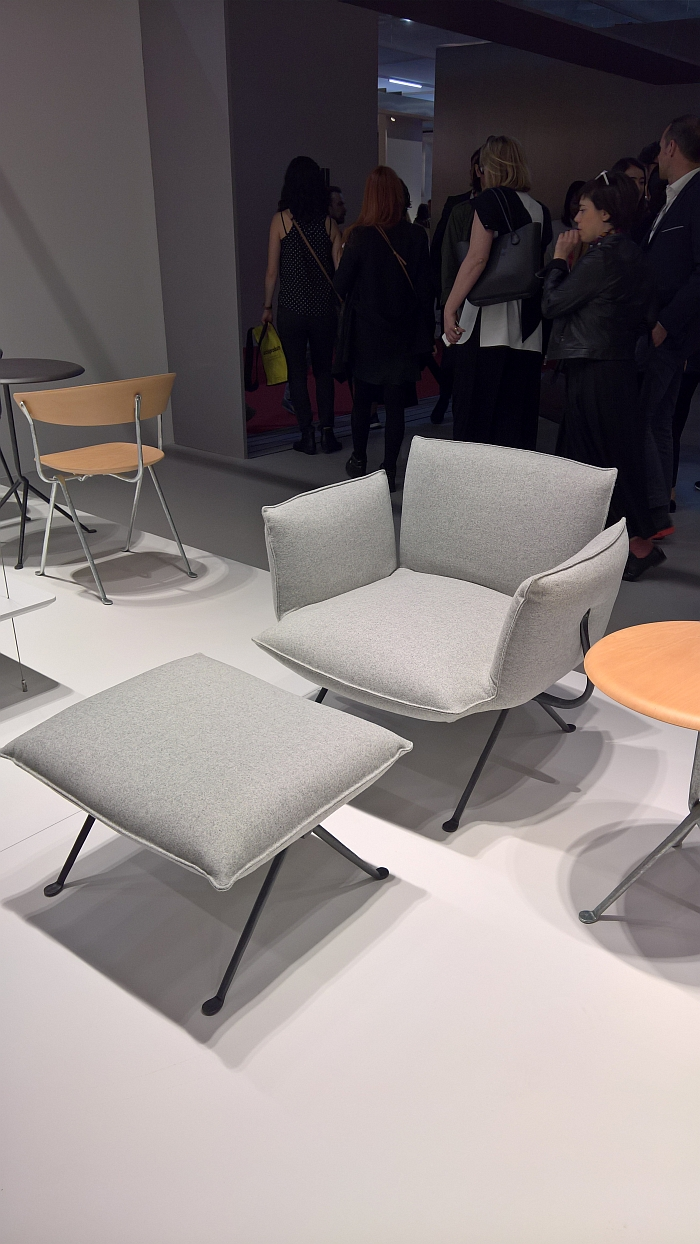 Officina armchair by Ronan & Erwan Bouroullec for Magis, as seen at Milan Furniture Fair 2017