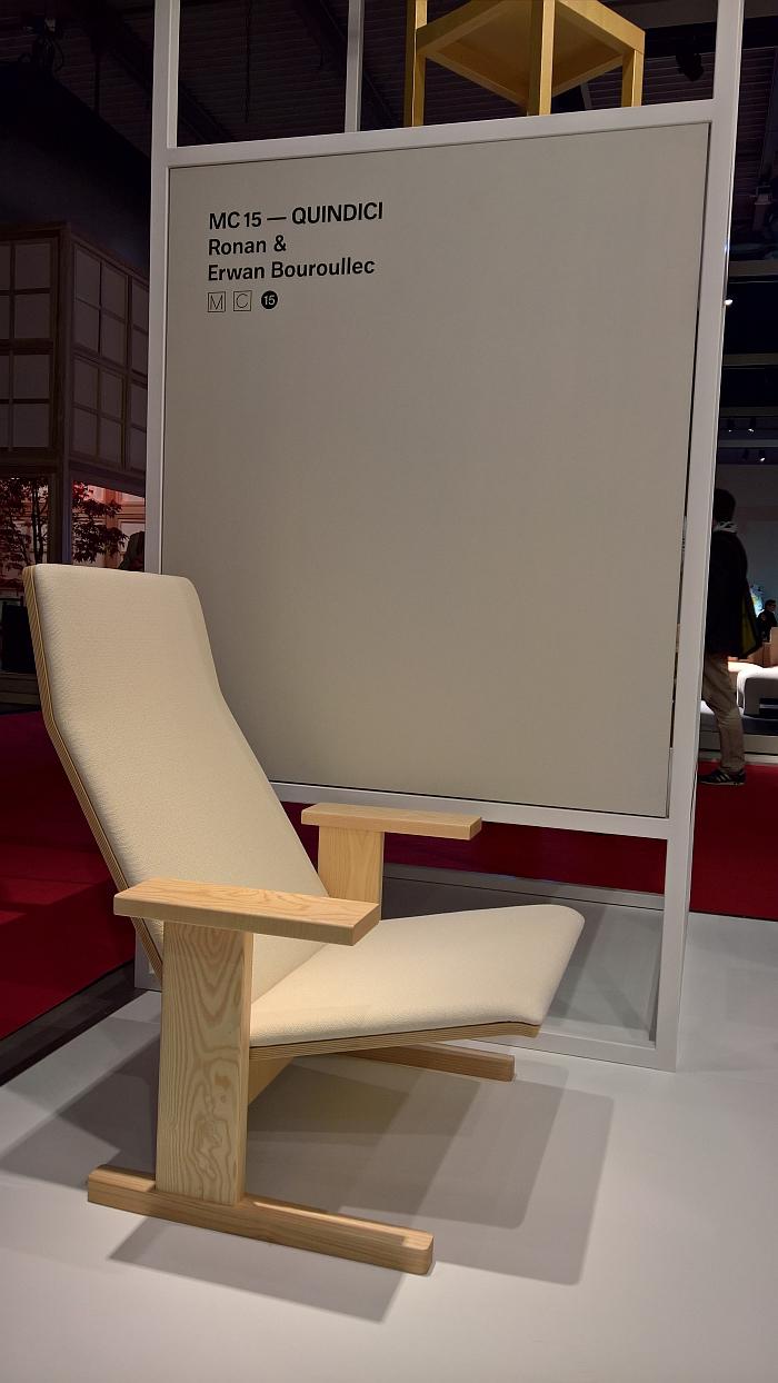 Quindici Lounge by Ronan & Erwan Bouroullec for Mattiazzi, as seen at Milan Furniture Fair 2017