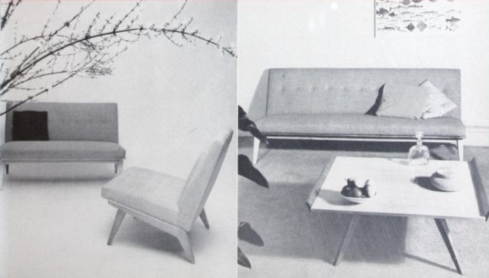 Chiar and sofas by Florence Knoll for Knoll, 1950