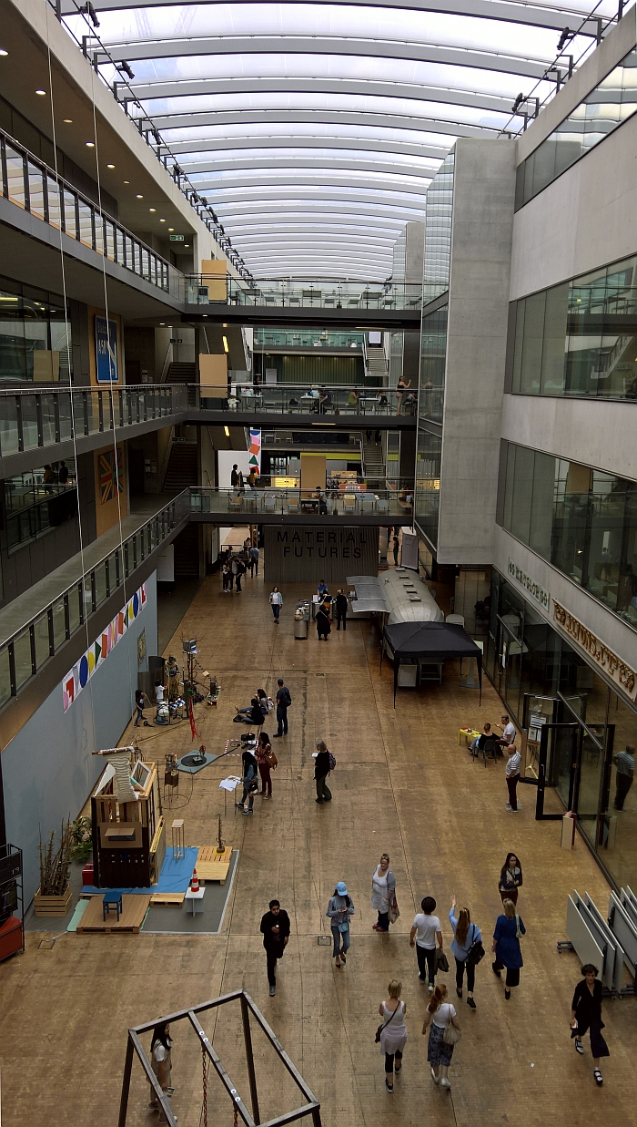 Central St Martins, London. The Granary Atrium