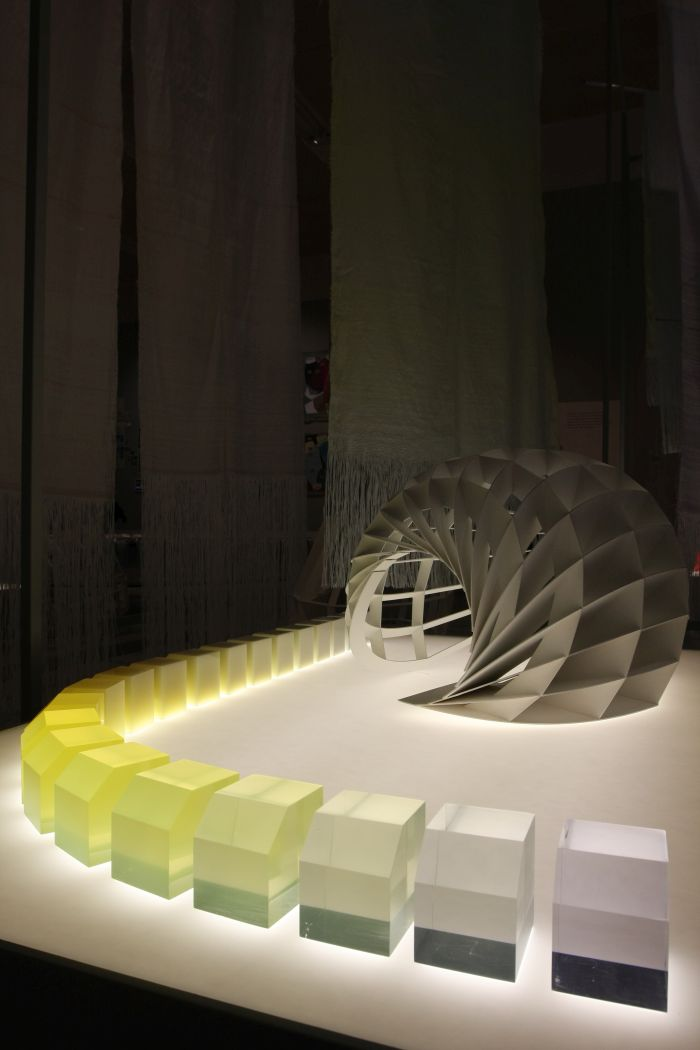 A morning colour catcher and a series of glass crystals, as seen at Breathing Colour by Hella Jongerius, London Design Museum
