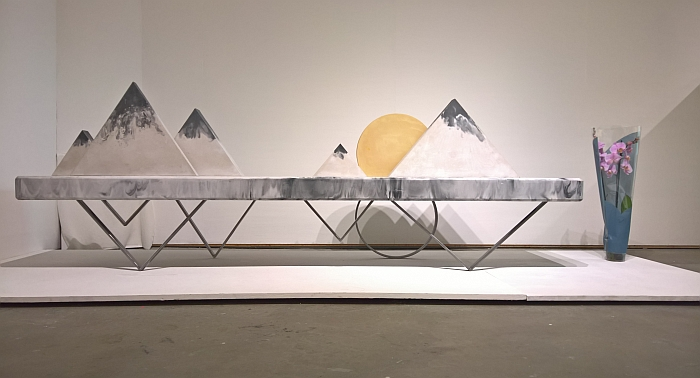 "Landscape Bench ""Harmony"" by Yining Shan, as seen at Central St Martins, London Degree Show 2017"