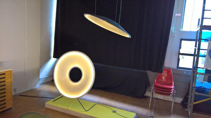 Acoustic Light by Nils Körner & Charlotte Zeht, as seen at the Akademie der Bildenden Künste Stuttgart Rundgang 2017