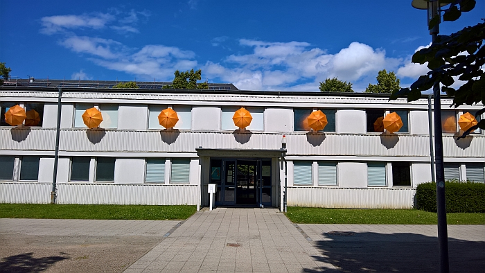 "And they said it was too niche, laughed the owner of the Orange Umbrella Emporium Wismar, as the Hochschule bought the last umbrella..... the installation was actually called ""Be Creative Be Orange"" and was realised by architecture Master students"