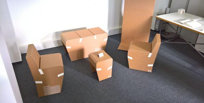 Furniture Series by Clemens Schneider, as seen at the Hochschule für Gestaltung Schwäbisch Gmünd Rundgang 2017