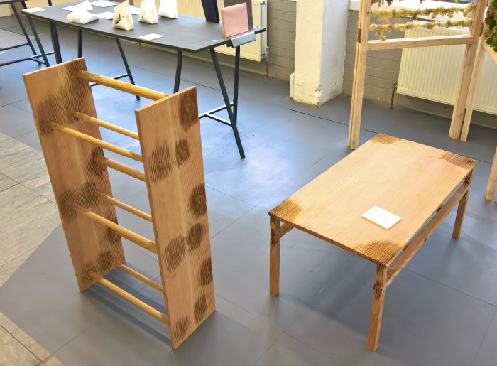 Latewood Table & Bookshelf by Scott Kelly, as seen at The Cass Summer Show 2017