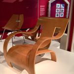 A plywood arm chair by Gerald Summers, crafted from a single plywood board (1934)
