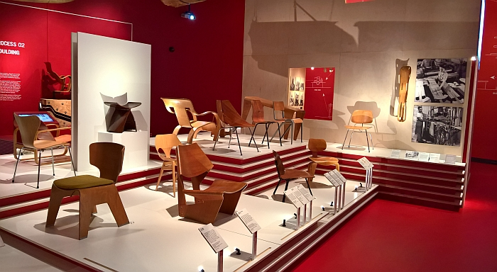 Plywood chairs, as seen at Plywood: Material of the Modern World, the V&A London