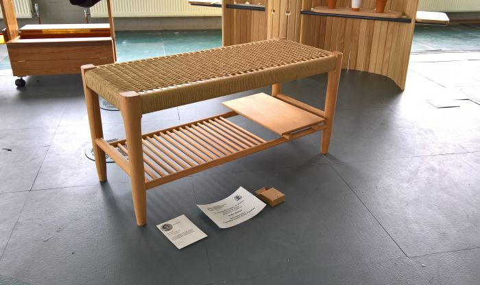 Ray Bench by Pete Stovin, as seen at The Cass Summer Show 2017