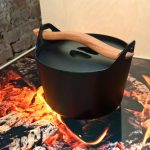 Sarpaneva cast iron pot by Timo Sarpaneva, as seen at Beyond Icons - New perspectives on design, Koldinghus, Kolding