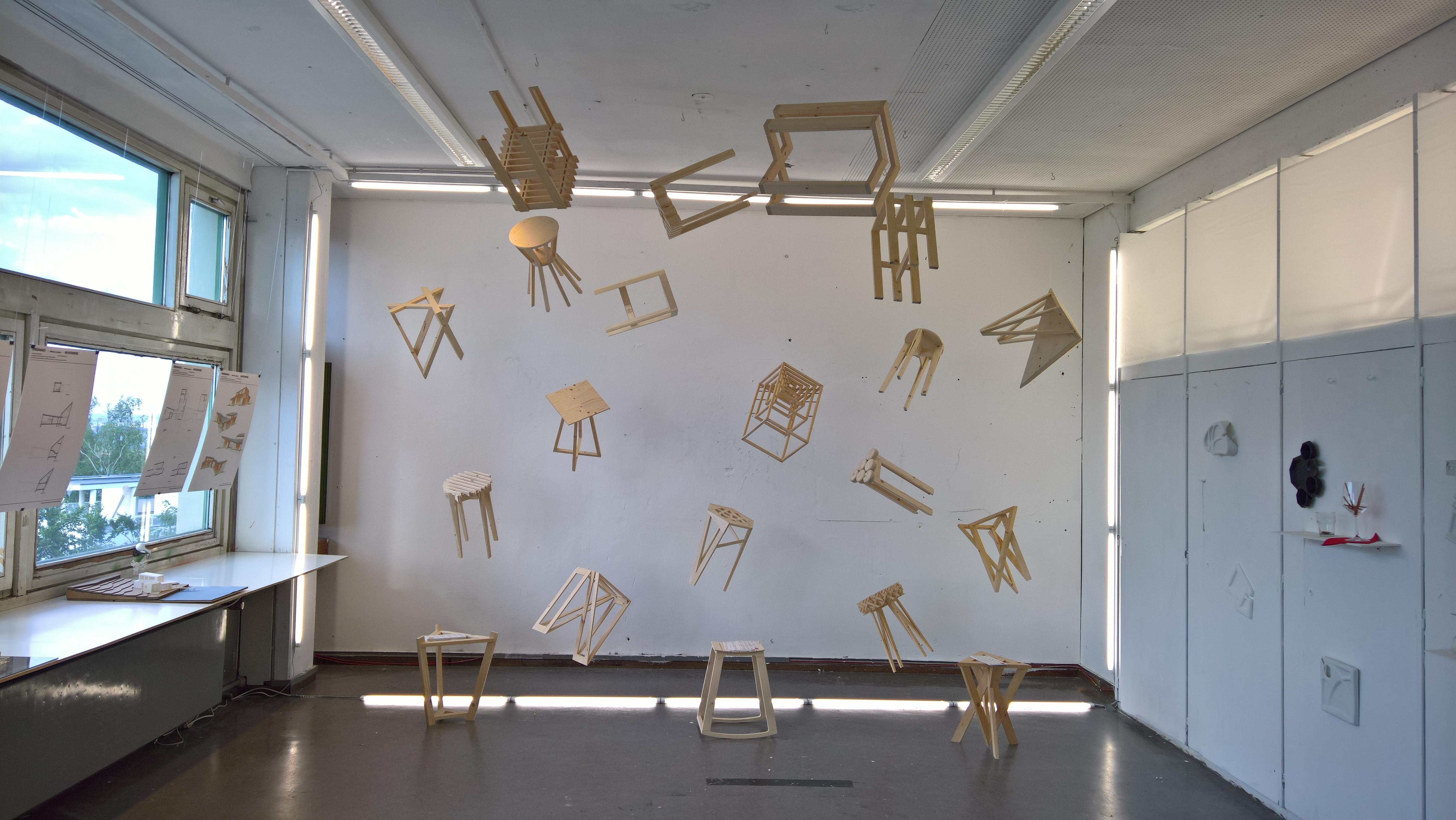 Sitting - From Idea to Object, as seen at the Akademie der Bildenden Künste Stuttgart Rundgang 2017