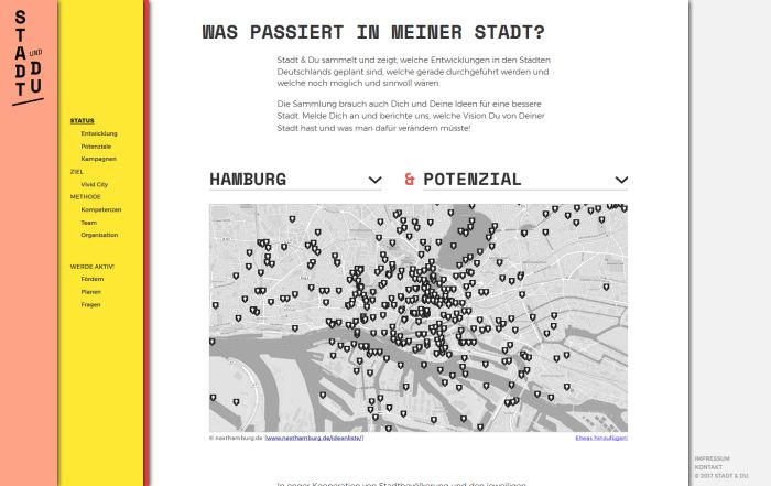 Stadt & Du by Johannes Ben Jurca (website screenshot)