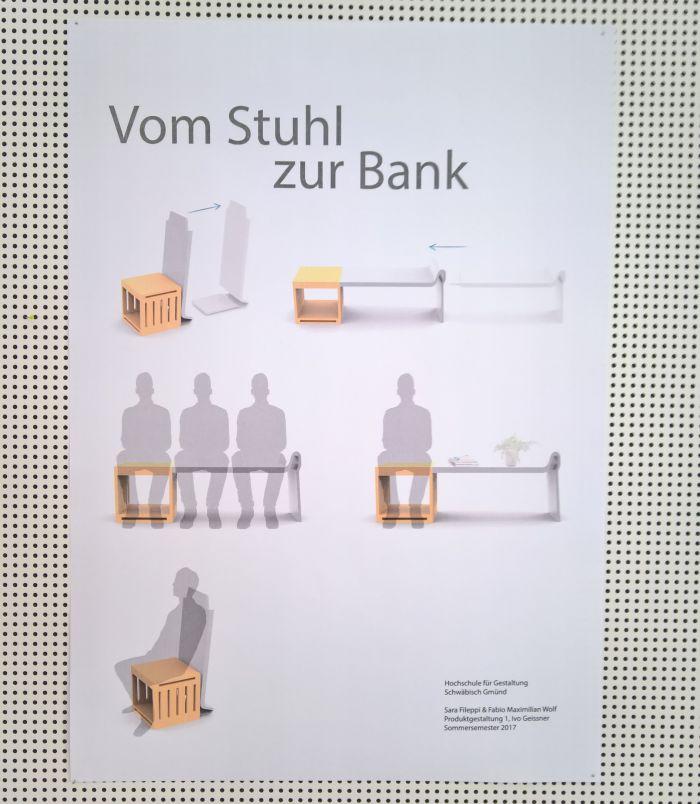 Vom Stuhl zur Bank Sara Fileppi & Fabio Maximilian Wolf ... detail