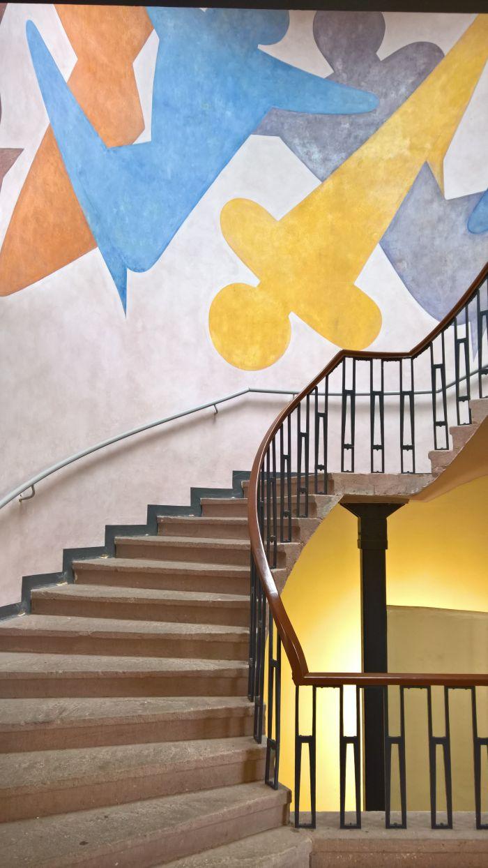 Oskar Schlemmer staircase mural, Bauhaus University Weimar