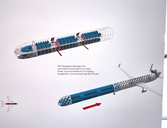 Flexibilität in der Luftfahrt by Paul Pötzelberger, as seen at Kunsthochschule Berlin Weissensee Rundgang 2017