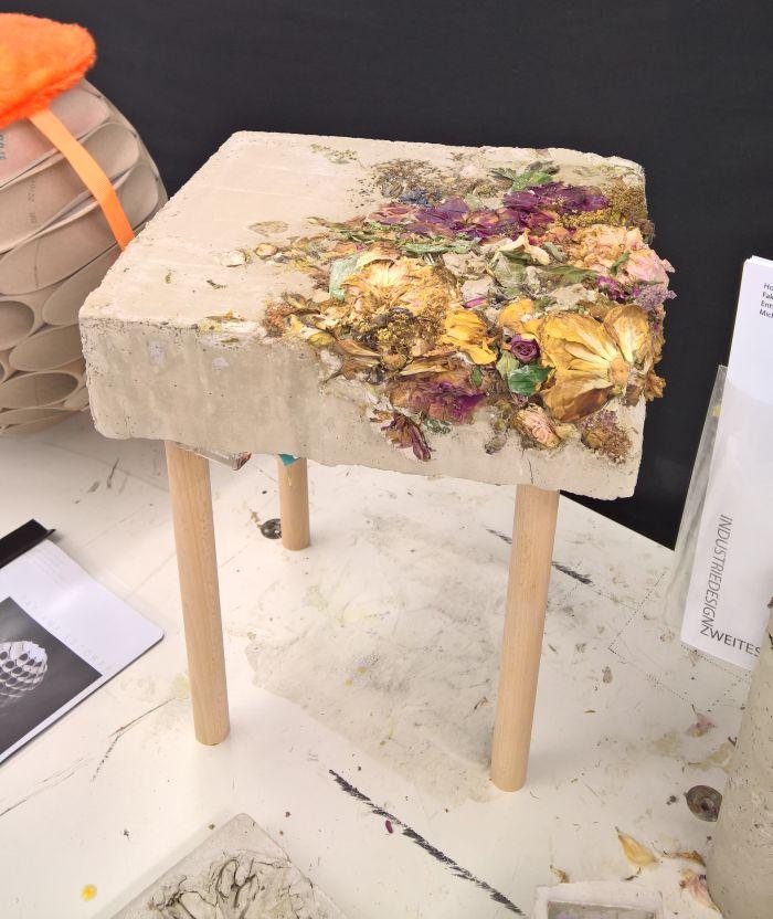 Flowaste Chair by Michelle Hussel, as seen at the Hochschule München Jahresausstellung 2017