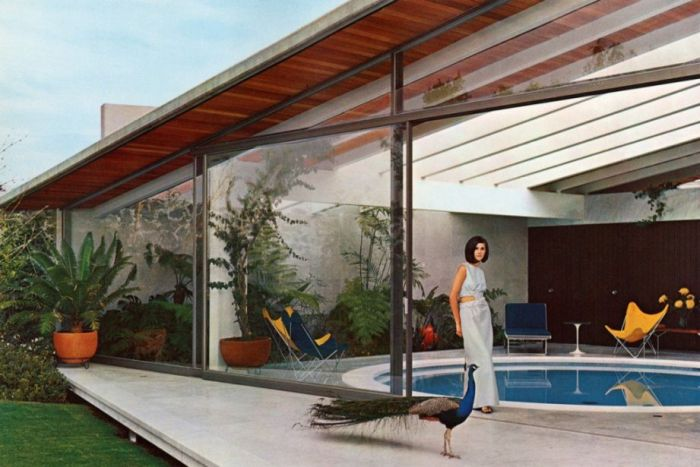 Francisco Artigas, House at 131 Rocas, Jardines del Pedre gal, Mexico City , 1966, (photo by Roberto and Fernando Luna, 1966, © Roberto and Fernando Luna Couretsy lacma)