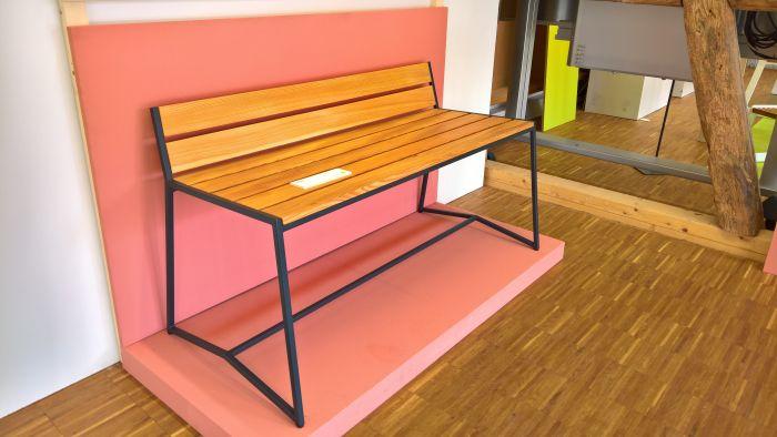 Kollektion zwo 17 bench by Anne Biastoch & Niklaas Hübner, as seen at Finale, Akademie für Gestaltung der Handwerkskammer Münster