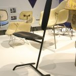 The 1948 Minimum Chair by Charles & Ray Eames, as seen at Charles & Ray Eames. The Power of Design, Vitra Design Museum