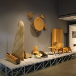 Plywood objects, as seen at Charles & Ray Eames. The Power of Design, Vitra Design Museum