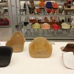 Fribreglass seat shells, as seen in Kazam!, the Vitra Design Museum Schaudepot