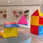 Structures created from Toy by Charles & Ray Eames, as seen at Play Parade, Vitra Design Museum Gallery