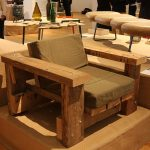 Beam armchair with cushions by Piet Hein Eek, as seen at Pure Gold. Upcycled! Upgraded!, Museum für Kunst Gewerbe Hamburg