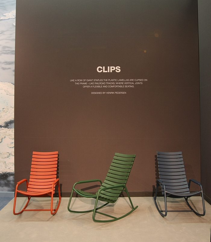 Clips Rocking Chair by Henrik Pedersen for Houe, as seen at spoga+gafa Cologne 2017