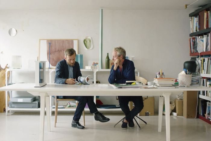 Erwan & Ronan Bouroullec in their atelier in Paris Belleville (Photo courtesy Studio Bouroullec)