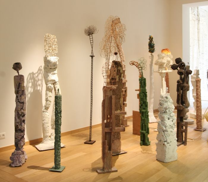 Presentation of Nacho Carbonell maquettes, as seen at Living Organisms, the Horta Museum Brussels