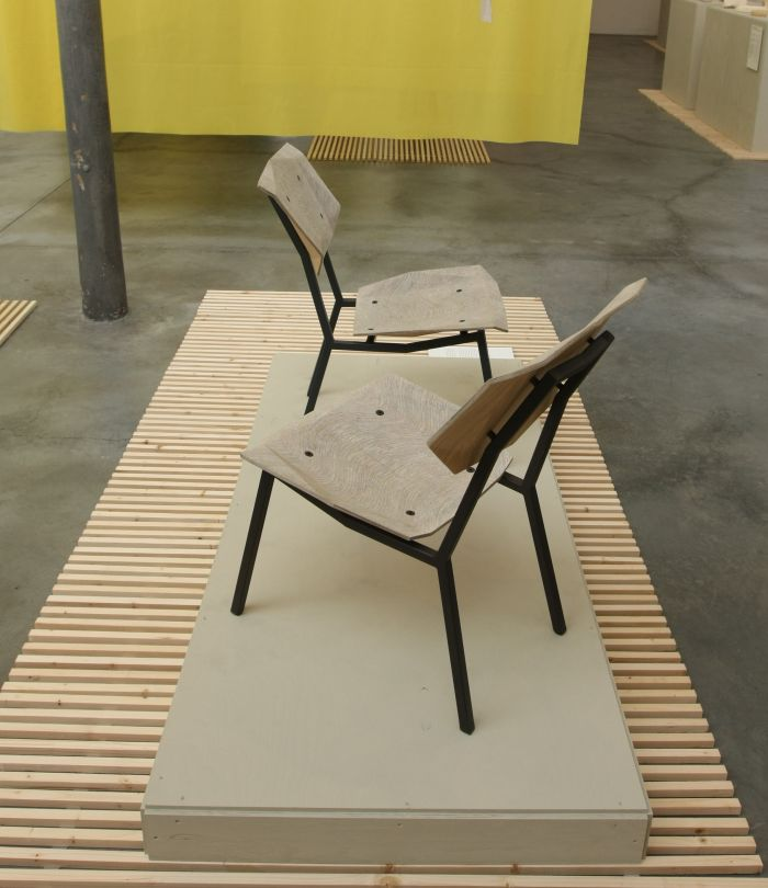 New Hybrids Newspaperwood chair by Studio Mieke Meijer, as seen at Dutch Invertuals – Happy Future, Milans 2014