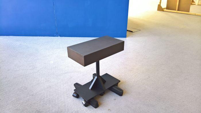 Sitzen auf der Bürste sweeper stool by Seungmin Baek, as seen at, Finale 2017, Folkwang Universität der Künste, Essen