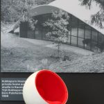Ball Chair by Eero Aarnio in front of Kukkapuro House by Eero Paloheimo, as seen at Echoes - 100 Years in Finnish Design and Architecture, Felleshus, The Nordic Embassies, Berlin