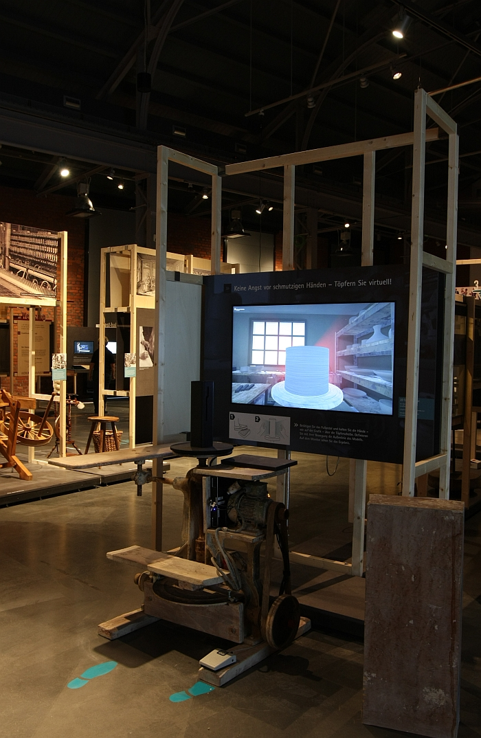 The virtual Potters Wheel, as seen at Gestures - Past, Present and Future at the Sächsische Industriemuseum Chemnitz
